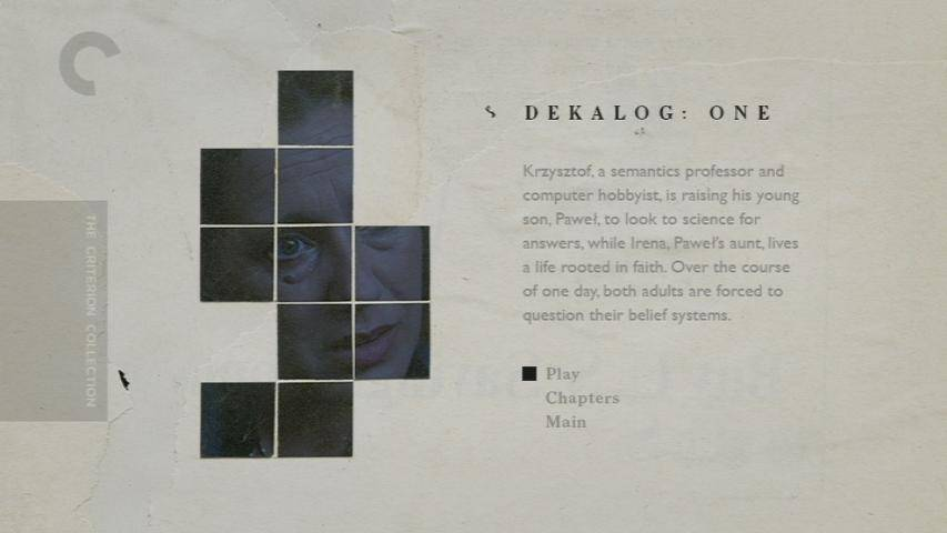 Dekalog / The Decalogue (1989-1990) [Criterion Collection]
