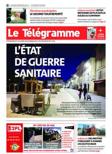 Le Télégramme Landerneau - Lesneven – 17 mars 2020