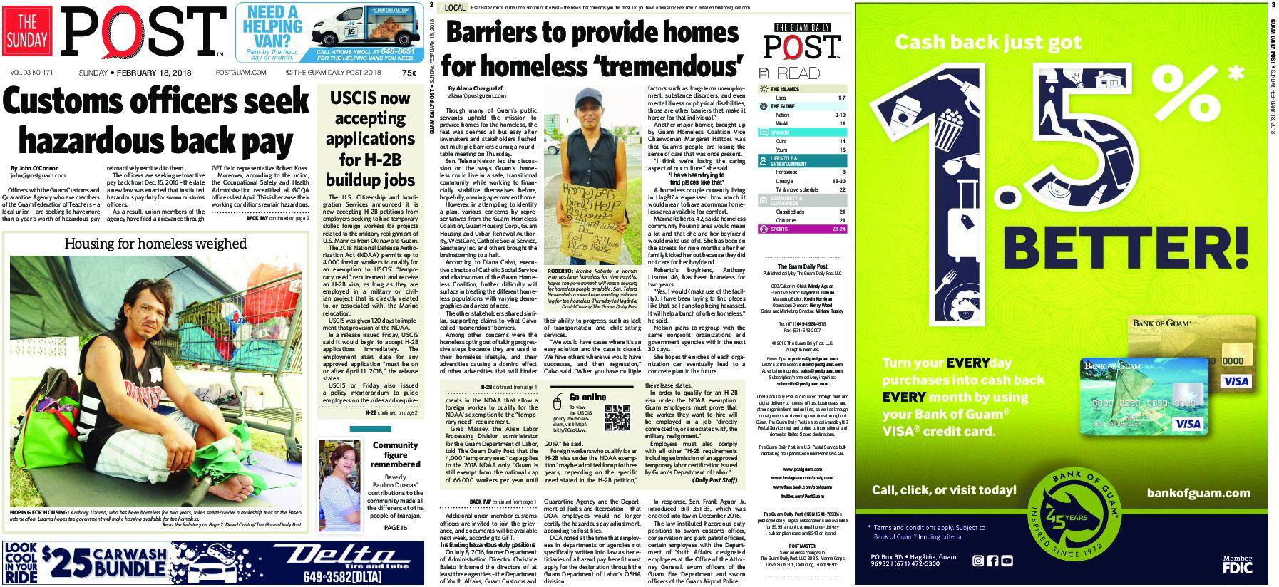 The Guam Daily Post – February 18, 2018