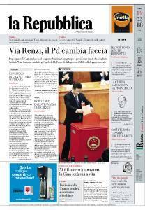 la Repubblica - 12 Marzo 2018