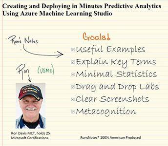 Creating and Deploying in Minutes Predictive Analytics Using Azure Machine Learning Studio