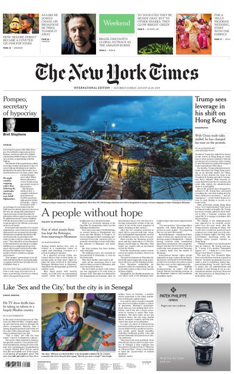 International New York Times - 24 August 2019