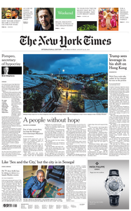 International New York Times - 24 August 2019