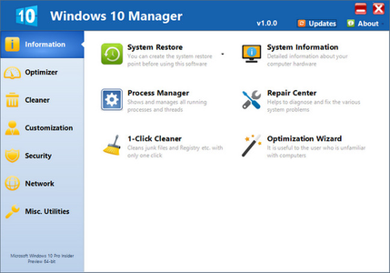 Yamicsoft Windows 10 Manager 2.1.9 DC 10.11.2017 Multilingual
