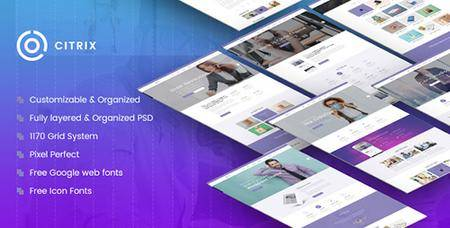 ThemeForest - Citrix v1.0 - Multi-Purpose Website PSD Template - 19766051
