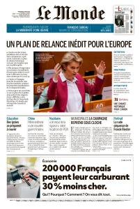 Le Monde du Vendredi 29 Mai 2020