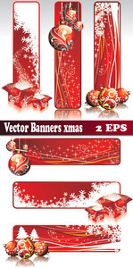 Christmas Banners-Vectors