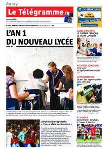 Le Télégramme Auray – 30 août 2019