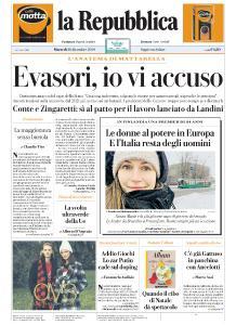 la Repubblica - 10 Dicembre 2019