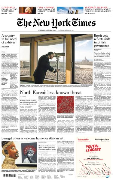 International New York Times - 17 January 2019