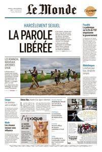 Le Monde du Dimanche 22 et Lundi 23 Octobre 2017