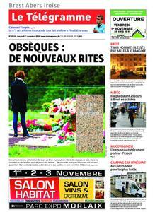Le Télégramme Brest Abers Iroise – 01 novembre 2019
