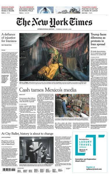 International New York Times - 4 January 2018