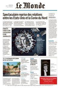 Le Monde du Jeudi 19 Avril 2018