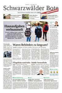 Schwarzwälder Bote St. Georgen, Triberg, Furtwangen - 11. September 2018