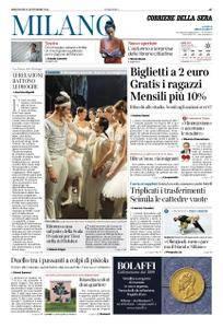 Corriere della Sera Milano – 12 settembre 2018