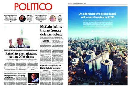 Politico – September 12, 2017