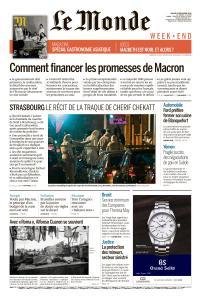 Le Monde du Samedi 15 Décembre 2018