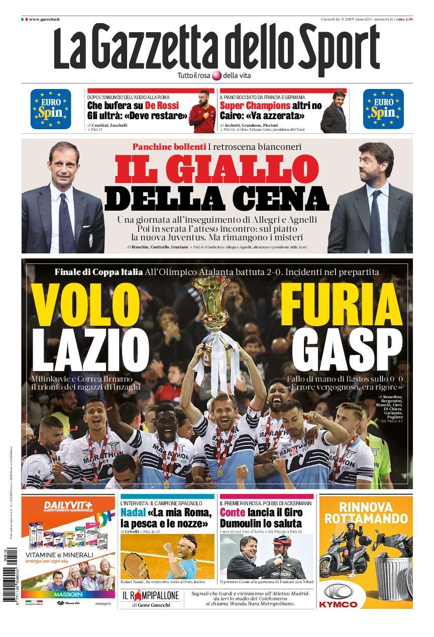 La Gazzetta dello Sport Sicilia – 16 maggio 2019