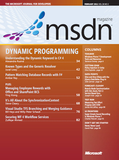 MSDN Magazine - February 2011