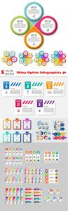 Vectors - Shiny Option Infographics 46