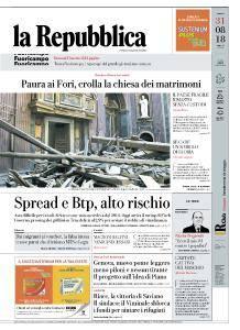 la Repubblica - 31 Agosto 2018
