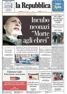 la Repubblica - 10 Ottobre 2019