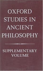 Oxford Studies in Ancient Philosophy: Supplementary Volume: Methods of Interpreting Plato and his Dialogues