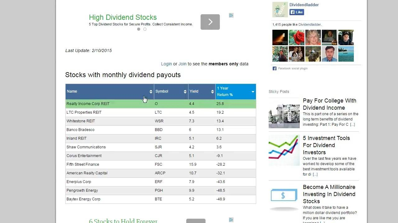 dividend stocks to invest in