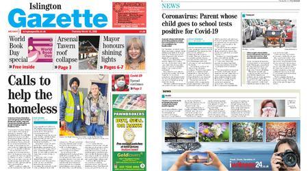 Islington Gazette – March 12, 2020