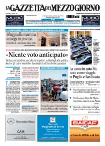 La Gazzetta del Mezzogiorno del 07 Agosto 2011