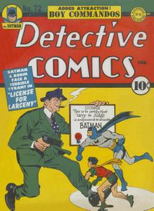 Detective Comics 72 (DC) (1943-02) (c2c) (A.S.S.)