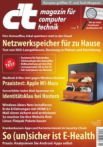c't Magazin für Computertechnik - 19 Dezember 2020