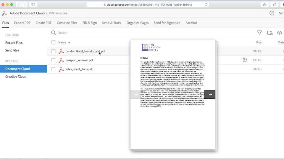 Adobe Document Cloud First Look / AvaxHome