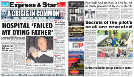 Express and Star Sandwell Edition – October 22, 2019
