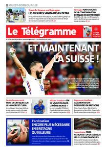 Le Télégramme Ouest Cornouaille – 24 juin 2021