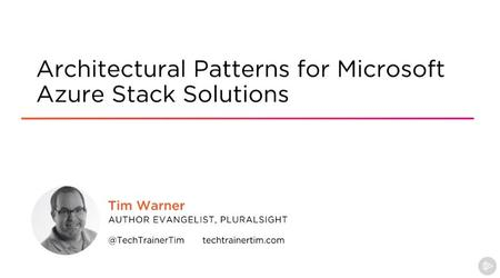 Architectural Patterns for Azure Stack Solutions