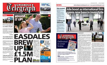 Greenock Telegraph – May 26, 2020