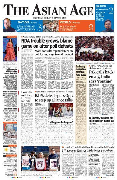 The Asian Age - March 16, 2018