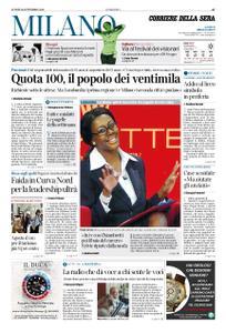 Corriere della Sera Milano – 16 settembre 2019