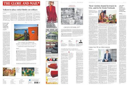 The Globe and Mail – October 28, 2019