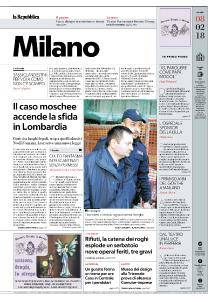 la Repubblica Milano - 8 Febbraio 2018