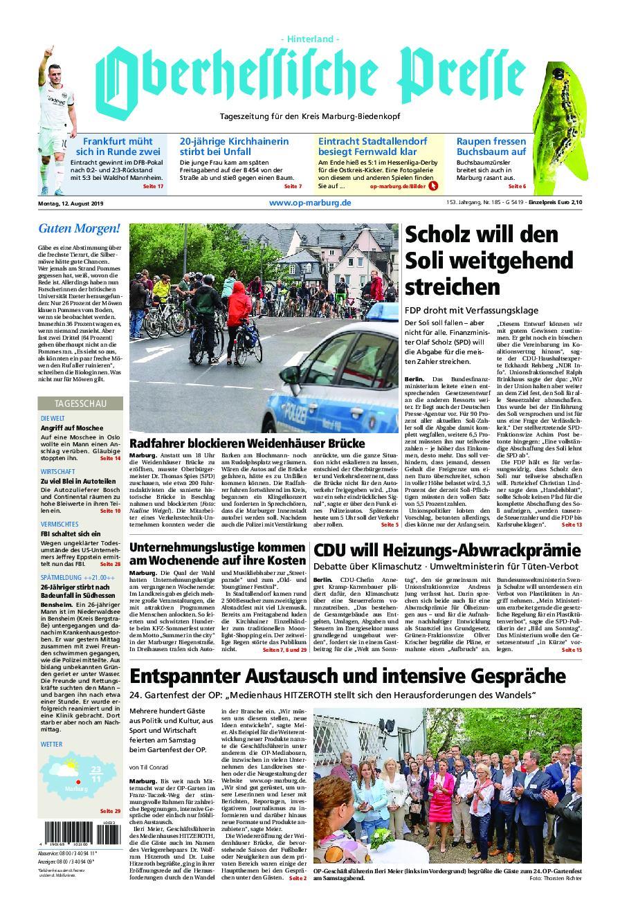 Oberhessische Presse Hinterland - 12. August 2019