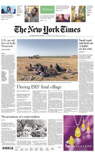 International New York Times - 9-10 February 2019