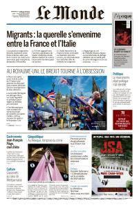 Le Monde du Dimanche 24 et Lundi 25 Juin 2018