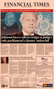 Financial Times USA – 25 September 2019