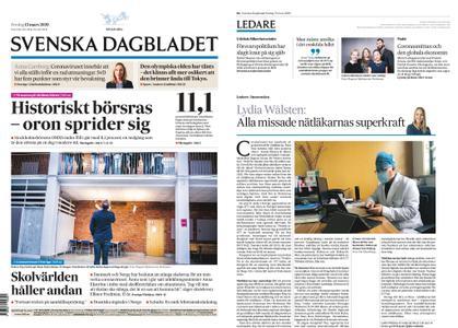 Svenska Dagbladet – 13 mars 2020