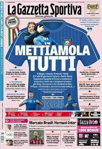 La Gazzetta dello Sport Rosa comprese tutte le edizioni locali (Roma, Milano, Sicilia, Puglia) - 19.06.2016