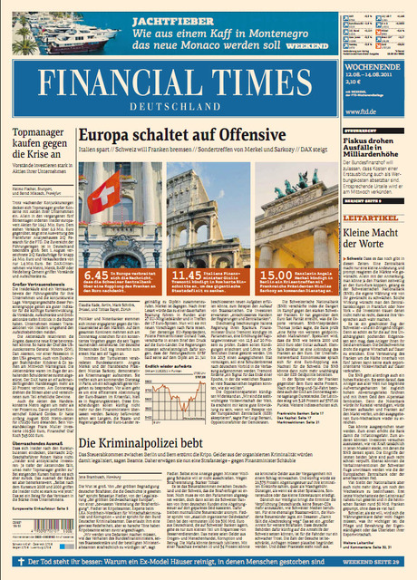 Financial Times Deutschland vom.12.08.2011