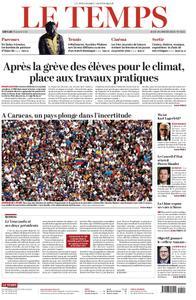 Le Temps - 24 janvier 2019